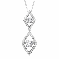 Rhythm of Love Diamond Necklace - Double Flame