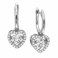 Rhythm of Love Diamond Earings - Halo Hearts