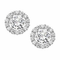 Rhythm Of Love Diamond Stud Earrings