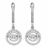 Rhythm of Love Double Halo Diamond Earrings