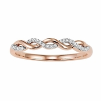 Rose Gold Diamond Twist Band