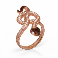 Rose Gold Snake Ring