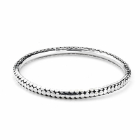 Samuel B. Dot Design Bangle Bracelet Sterling Silver