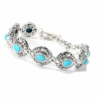 Samuel B Sterling Silver Sleeping Beauty Turquoise Bracelet