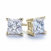 SPECIAL BUY - 2.08ctw Princess Cut Diamond Studs