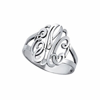 Sterling Silver Script Ring