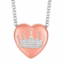 "Sweethearts Diamond ""Crown"" Necklace"