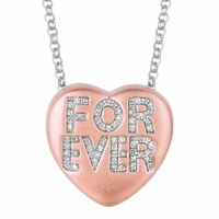 "Sweethearts Diamond ""FOREVER"" Necklace"