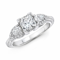 Tacori Platinum & Princess Cut Diamond Ring - 1.58ctw