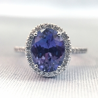 Tanzanite and Diamond Ring by Parade Design