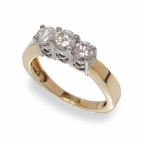 Three Stone Ladies Diamond Ring