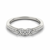 Layla - Two Stone Diamond Pave Ring