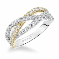 TWO TONE CROSSOVER - Diamond Anniversary Ring by Artcarved