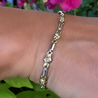 18K 2 Tone Gold and Diamond Bracelet