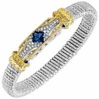 Vahan London Blue Topaz and Diamond Bracelet