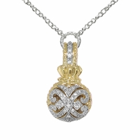 Vahan Diamond Scroll Pendant
