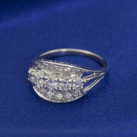 Vintage 14K White Gold & Diamond Band -  Charlotte