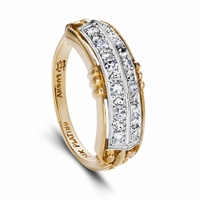 Wendolyn - Vintage 14K Yellow Gold & Diamond Band