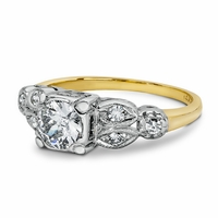 Vintage 14K Yellow Gold & Diamond Engagement Ring - Waverly