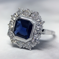 Vintage 1920 Sapphire and Diamond Ring