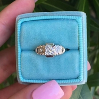 Vintage 1940's Transitional Cut Diamond Engagement Ring