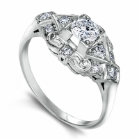 Elizabeth - Vintage Diamond & Platinum Engagement Ring