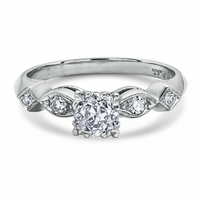Vintage Platinum & Diamond Engagement Ring -  Ariana