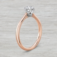 Vintage Inspired 14k Rose Gold and .63ct Old European Cut Diamond Engagement Ring