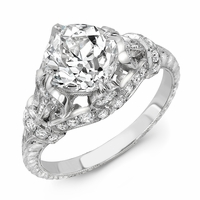 Vintage Platinum and Diamond Engagement Ring - 2.14ct Old Mine Cut Diamond