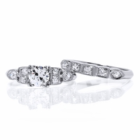 Vintage Platinum Wedding Set