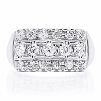 Charlotte - Vintage White Gold Diamond Band - .85ctw