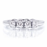 14K White Gold Diamond Ring .16ctw