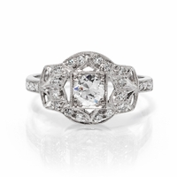 Art Deco Platinum & Diamond Engagement Ring