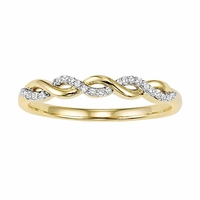 Yellow Gold Diamond Twist Band