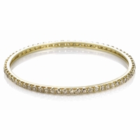 Yellow Gold Rough Cut Diamond Bracelet - 4.40ctw