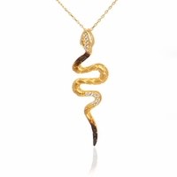 Yellow Gold Snake Necklace