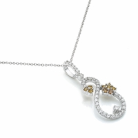 Yellow Sapphire & Diamond Necklace