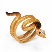 Slithering Yellow Snake Ring