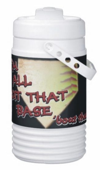All About That Base Softball Igloo Half Gallon Beverage Cooler