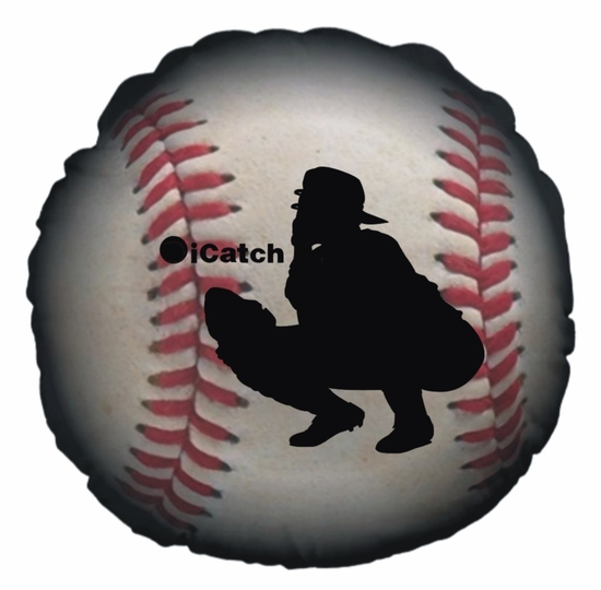 Baseball iCatch Round Throw Pillow