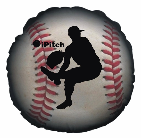 Baseball iPitch Round Throw Pillow