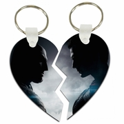 Batman V Superman Split Heart Aluminum Key Tags/Keychains/Key Charms