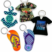 Beach/ Nautical/ Travel/ Summer Themed Keychains And Key Charms