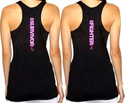 Breast Cancer Hashtag Survivor/Fighter Tank Top/Workout Tank Top, Breast Cancer Awareness Workout Tank