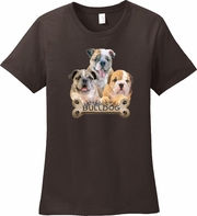 Bulldog Shirt/Bulldog Gift/Bulldog Breed Art, Dog T-Shirt/Dog Lovers T-Shirt/Dog Lovers Gift/Pet Owner Gift/Women�s Dog Shirt