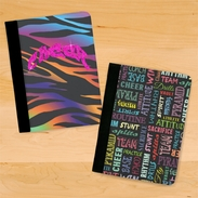 Cheer Glitter Animal Print And Cheer Chalkboard Terms Notebook/Padfolio