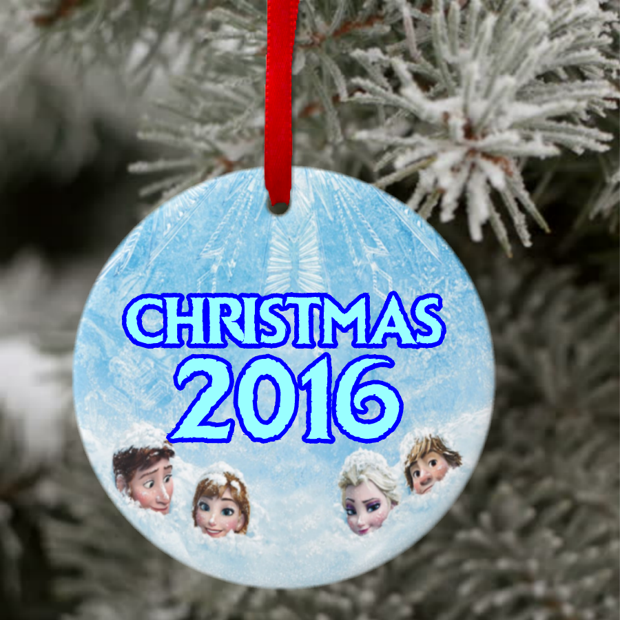 Personalized Frozen Ceramic Christmas Ornament With Photo