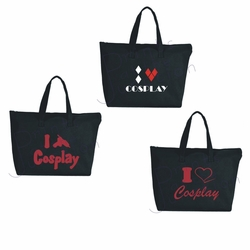 Cosplay Large Zipper Tote Bags