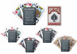 Custom Chalkboard Man Cave Rules Bicycle Playing Cards
