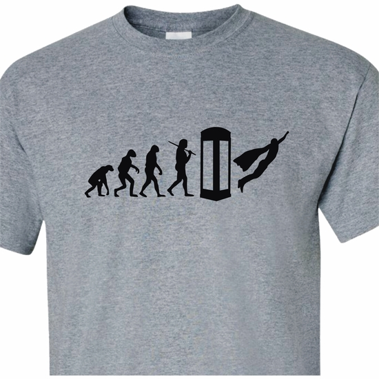 Evolution Of The Superhero Adult T-Shirt
